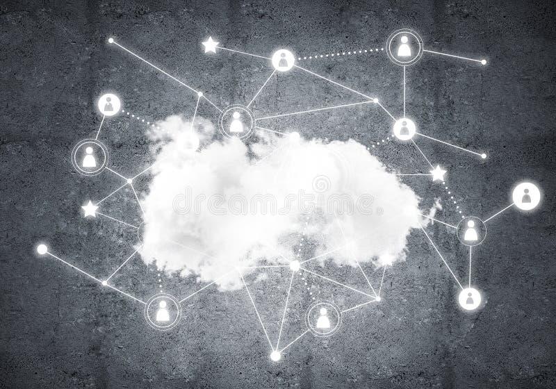 Technologies du sans fil pour la connexion et données de partager comme abstrac illustration de vecteur