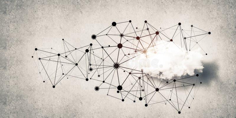 Technologies du sans fil pour la connexion et données de partager comme abstrac illustration libre de droits