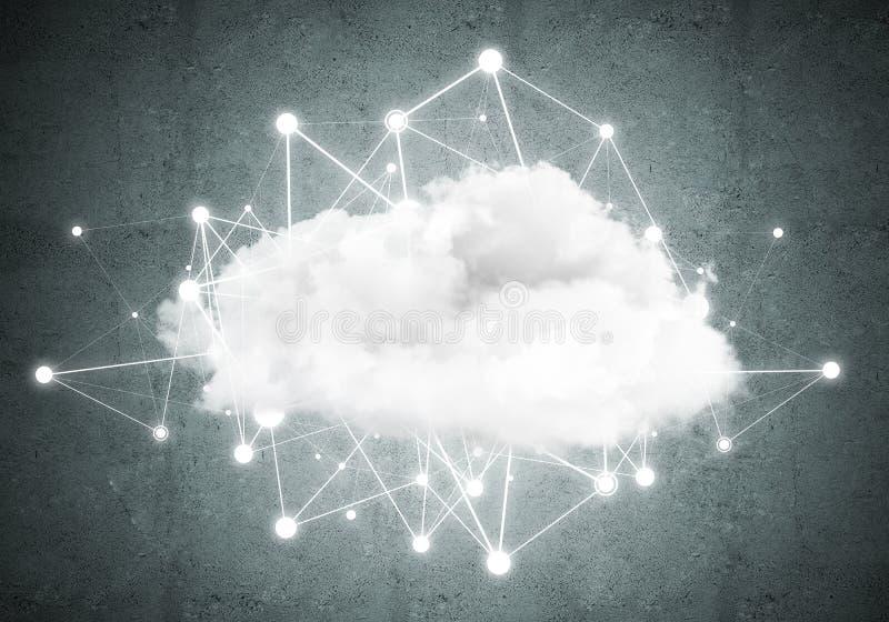 Technologies du sans fil pour la connexion et données de partager en tant que concept abstrait image libre de droits