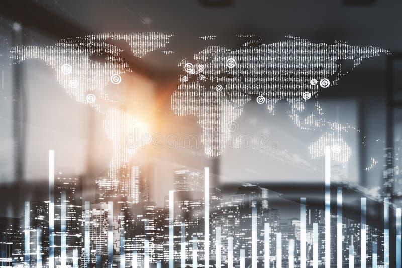 Technologies globales de l'information et des communications illustration stock
