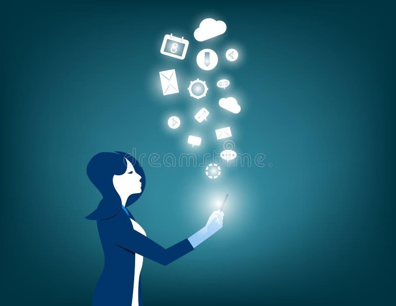 Technologies innovatrices dans votre dispositif illustration de vecteur
