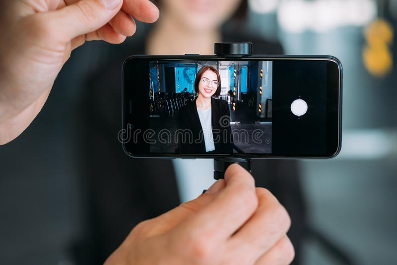 Technologies modernes Digital Equipment bloguant images stock