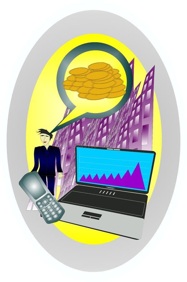 Download Technologies and money stock illustration. Illustration of interest - 26016387