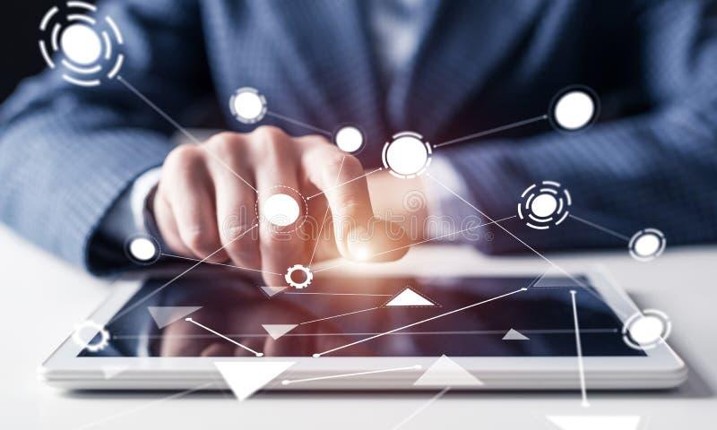 Technologies num?riques dans des affaires modernes illustration de vecteur