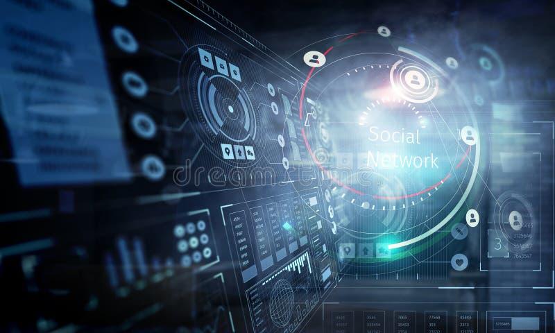 Technologies pour la connexion Media mélangé photo stock