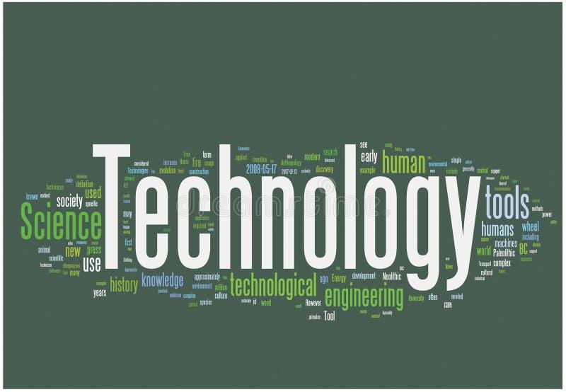 Technologiewortwolke lizenzfreie abbildung