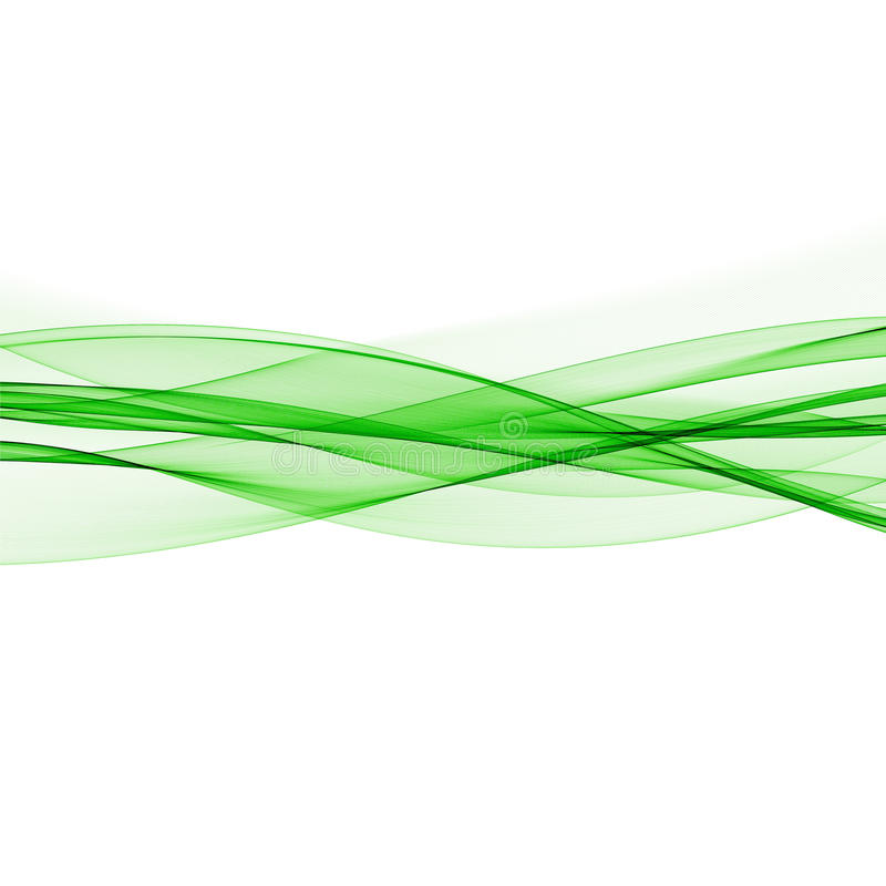 Technologii abstrakta zieleni fala royalty ilustracja