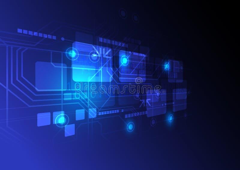 Technologii cyfrowej pojęcia tło royalty ilustracja