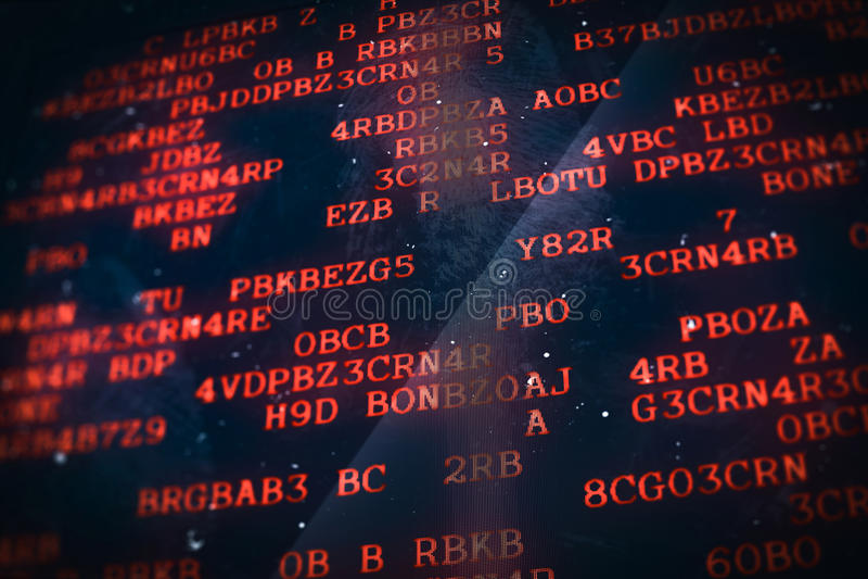 Technologii cyfrowej tła dane komputerowy ekran ilustracja wektor