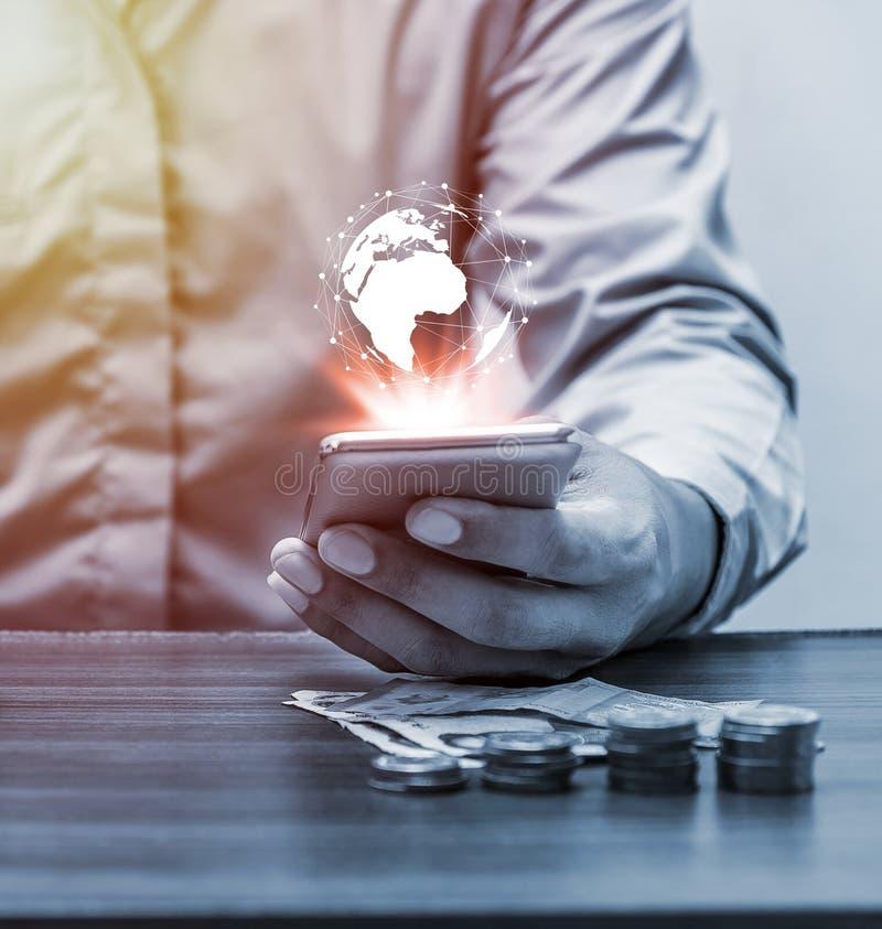 Technologii globalnej sieci pojęcia ludzie obraz stock