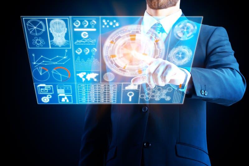 Technologii, innowaci i ekranu sensorowego pojęcie, zdjęcia royalty free