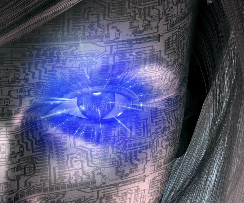 Technologii istota ludzka royalty ilustracja