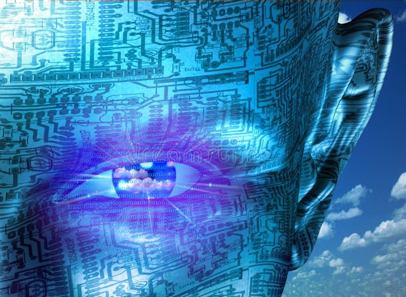 Technologii istota ludzka ilustracji