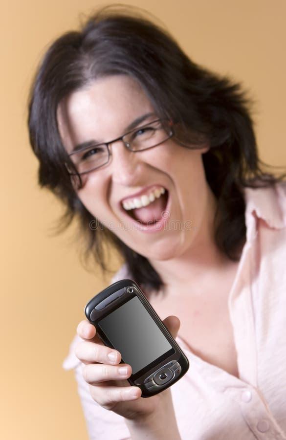 technologii komunikacyjnej kobiety potomstwa zdjęcie royalty free