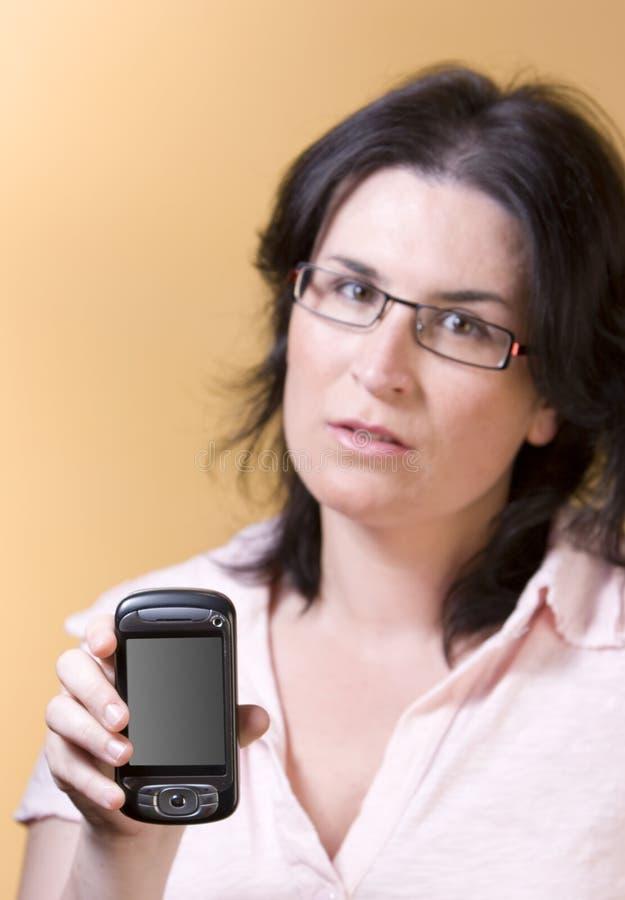 technologii komunikacyjnej kobiety potomstwa fotografia stock