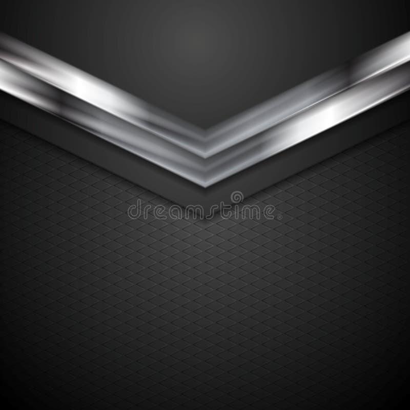 Technologii korporacyjny tło z metal strzała royalty ilustracja