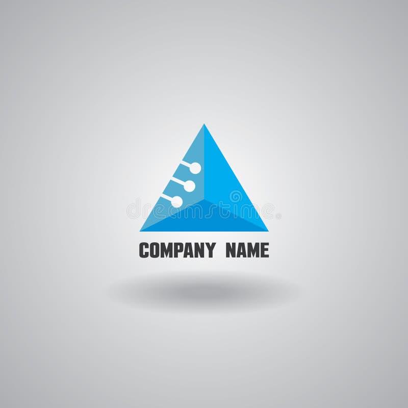 Technologii logo, komputer i dane, odnosić sie biznes, technikę i nowatorskiego, elektronicznego ilustracja wektor