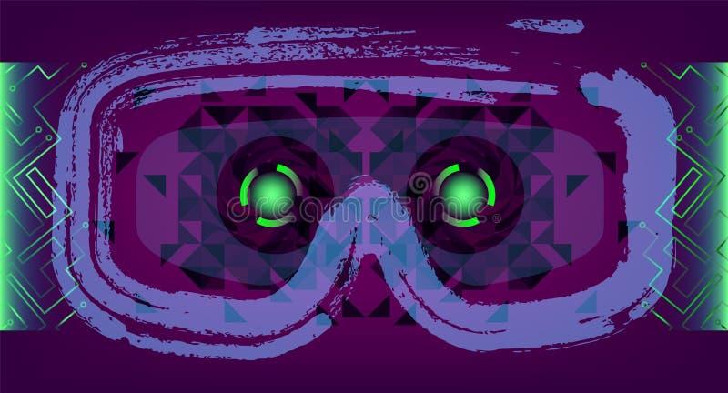 Technologii pojęcie Z Hud, Gui projekta elementy Głowa Displa royalty ilustracja