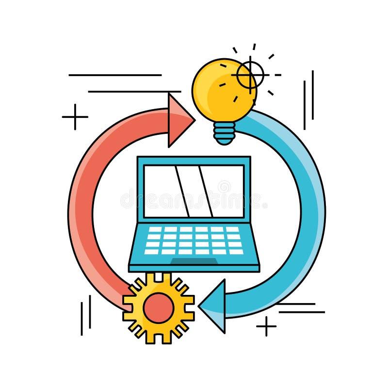 Technologii praca zespołowa proces rozwoju ilustracji