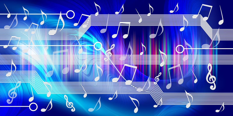 Technologii t?a Muzyczny sztandar technologia sztandaru t?o r?wnie? zwr?ci? corel ilustracji wektora royalty ilustracja