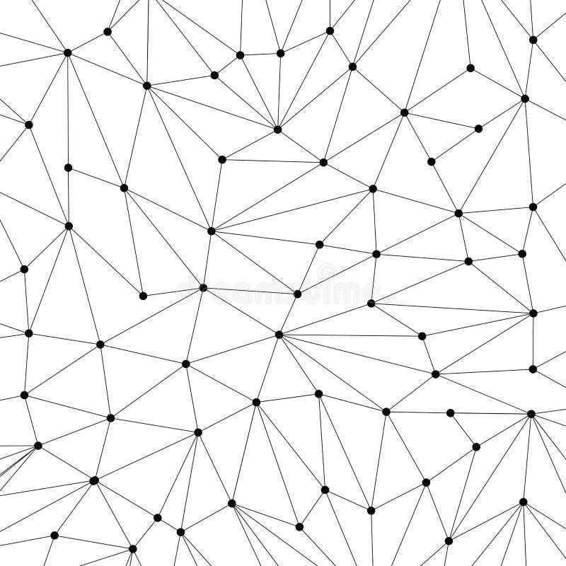 Technologii tło dla strony internetowej od czarnych punktów connecti royalty ilustracja