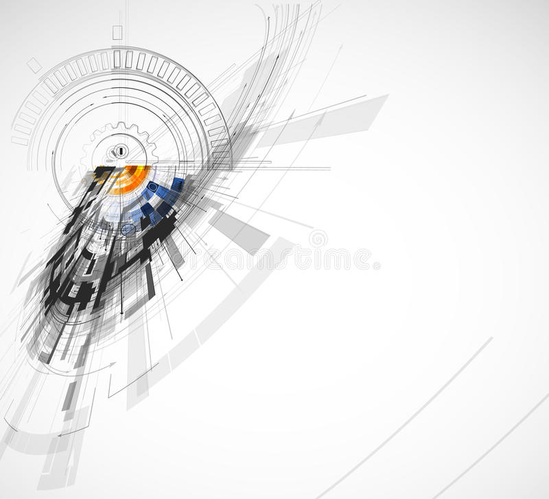 Technologii tło, pomysł globalnego biznesu rozwiązanie royalty ilustracja