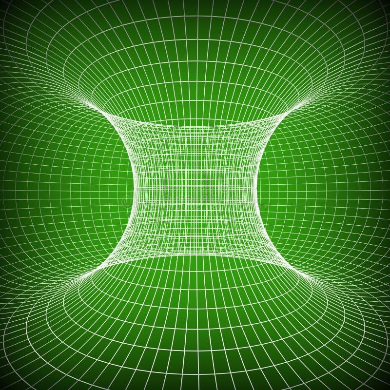 Technologii tło Reprezentuje technika abstrakt I Twirling ilustracja wektor