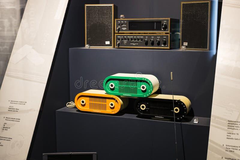 Technologisch Technisch die Museum na Leonardo Da Vinci Department, expositie wordt genoemd van de ontwikkeling van mededeling en royalty-vrije stock foto's