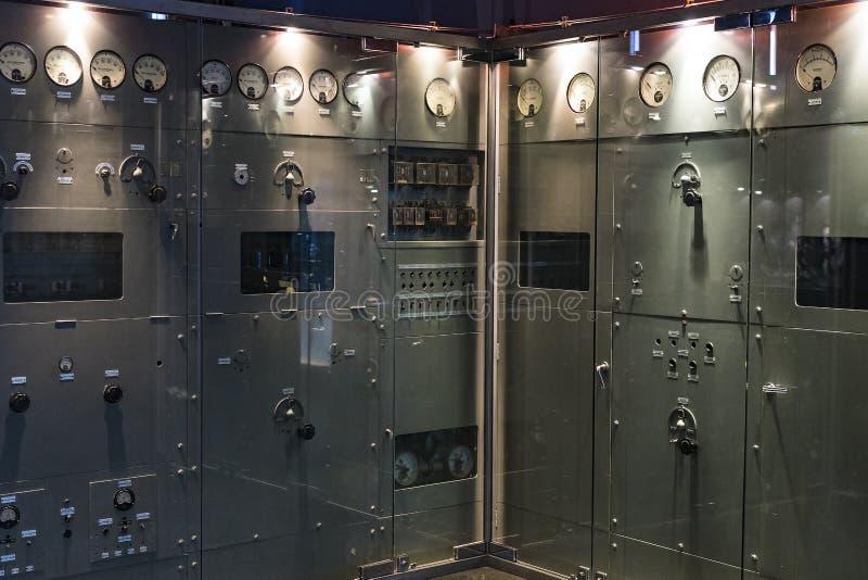 Technologisch Technisch die Museum na Leonardo Da Vinci Department, expositie wordt genoemd van de ontwikkeling van mededeling en stock foto
