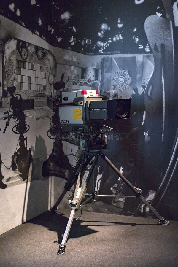 Technologisch Technisch die Museum na Leonardo Da Vinci Department, expositie wordt genoemd van de ontwikkeling van mededeling en royalty-vrije stock fotografie