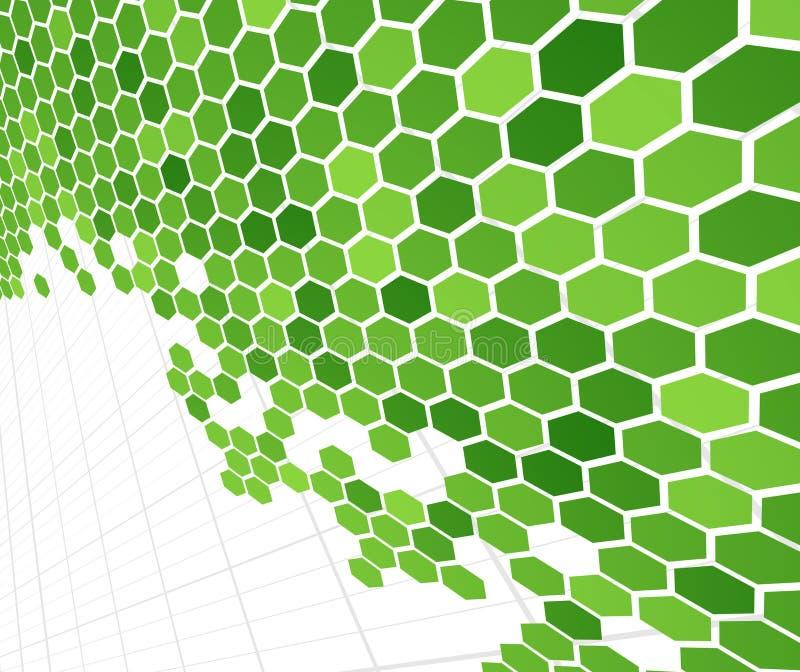 Technologische groene cellen royalty-vrije illustratie