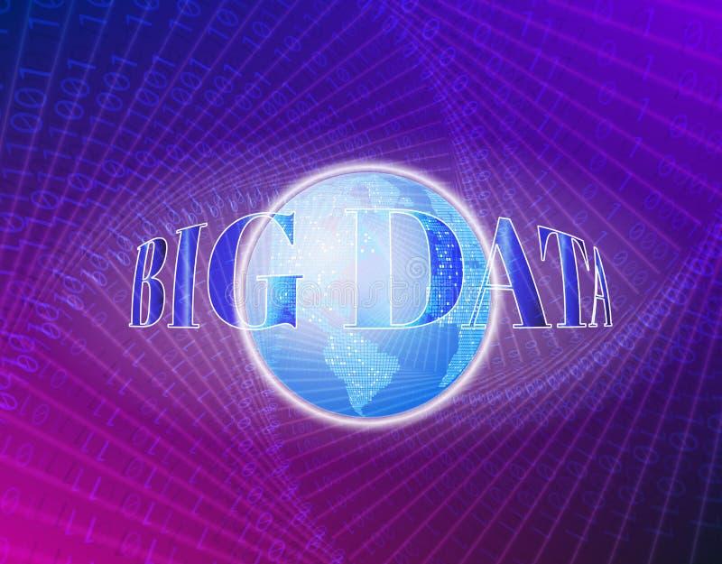 Technologische Sichtbarmachung abstrakten Begriffs Digital, Vektorillustration Weltkugel auf Blau Verbindungen des globalen Netzw lizenzfreie abbildung