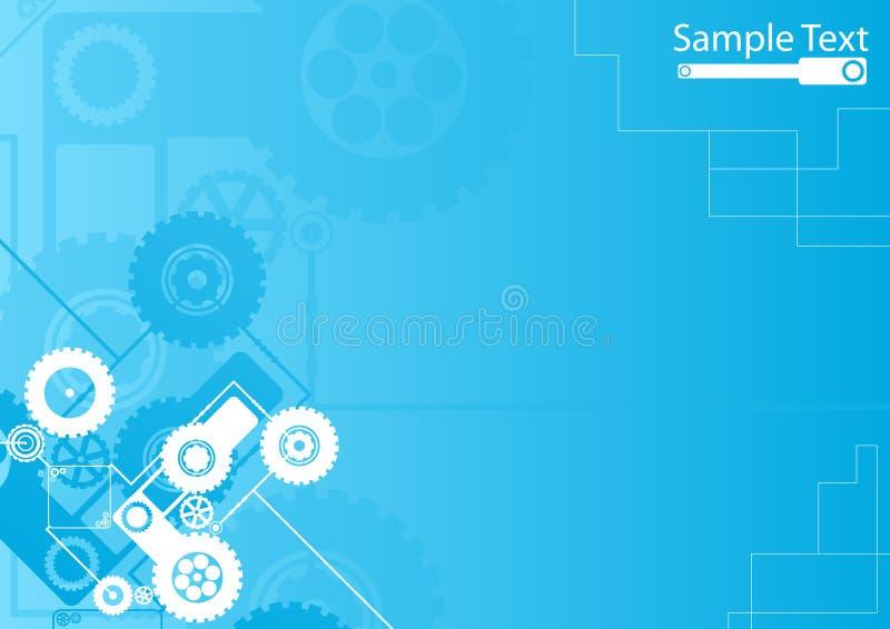 Technologische uurwerk blauwe achtergrond vector illustratie