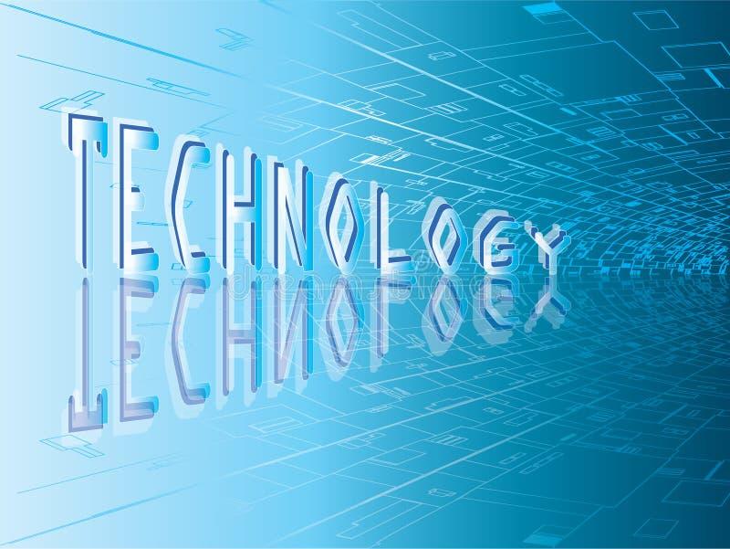 Technologischer Hintergrund lizenzfreie abbildung