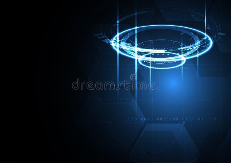 Technologisches Verschlüsselungssystemkonzept-Zusammenfassungshintergrund vect lizenzfreie abbildung