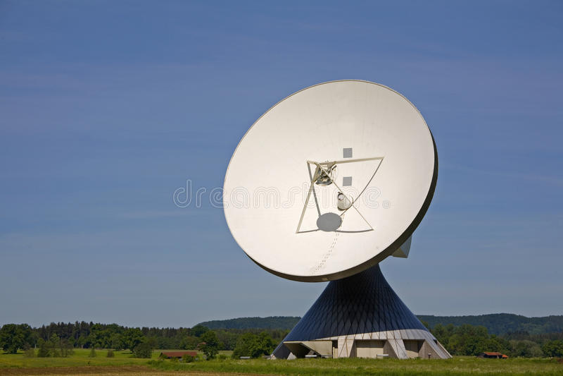 Technology. Parabolic antennas in Raisting in Upper Bavaria royalty free stock photography
