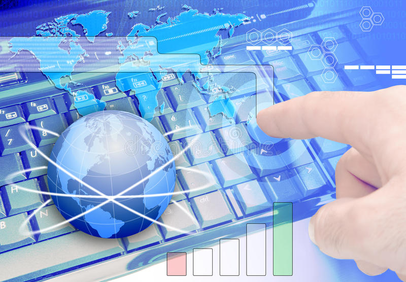 Technology. Theme background communications technology, information technology and active business concept