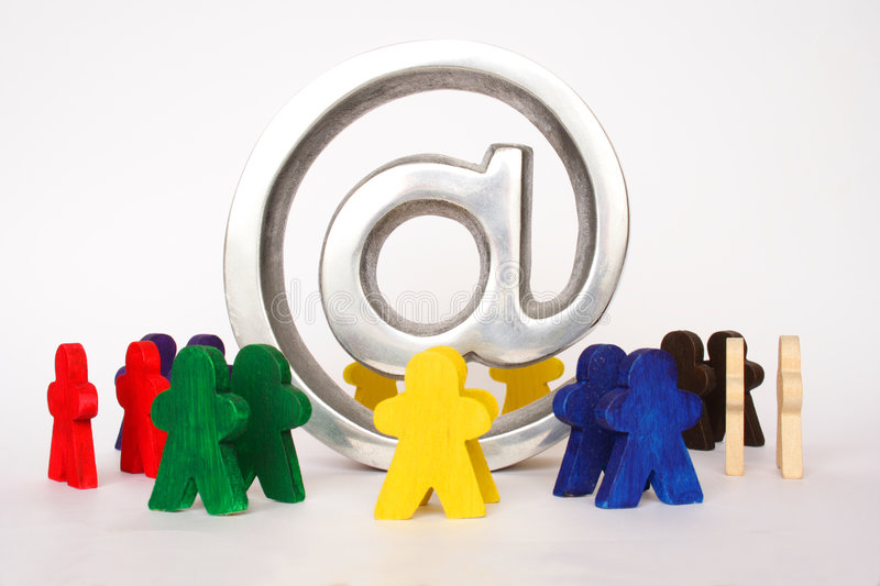 Technology. Concept of internet for everyone with symbol and figures royalty free stock photos