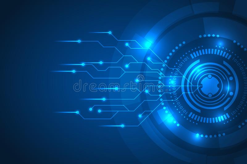 Technology abstract background and circuit vector. big data digital technology abstract background. Future innovation development. lines digital technology royalty free illustration