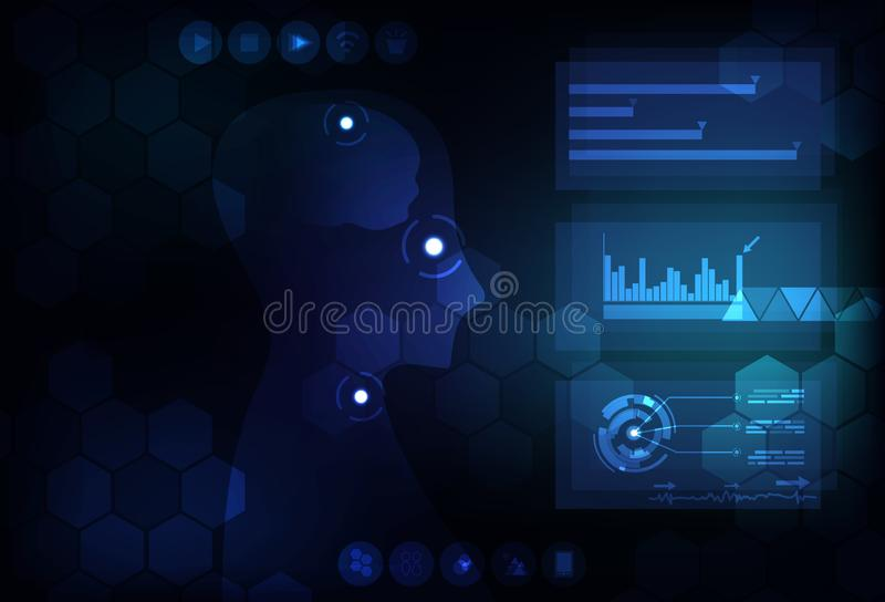 Technology abstract background digital futuristic infographic co stock illustration