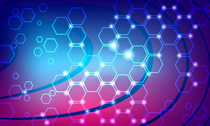 Technology Abstract Background, futuristic background, cyberspace Concept. vector illustration