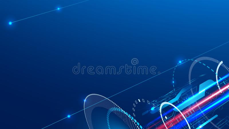 Technology abstract background on the topic of engineering, industry and communications. royalty free illustration