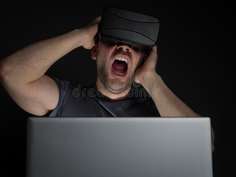 Technology addiction and mental disorders royalty free stock photos