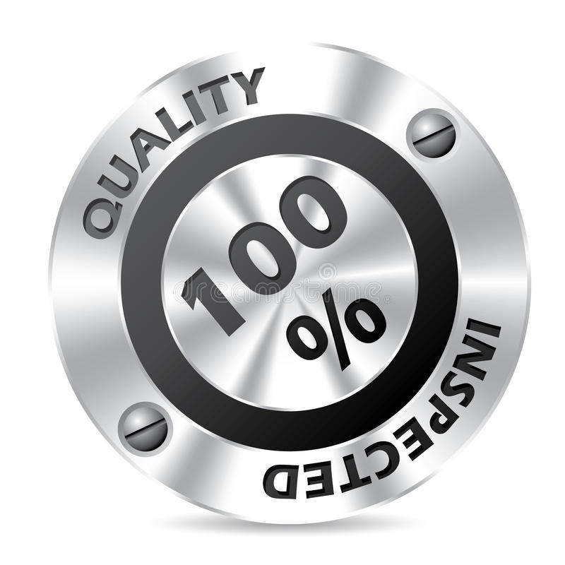 Technology award badge design. On white background stock illustration