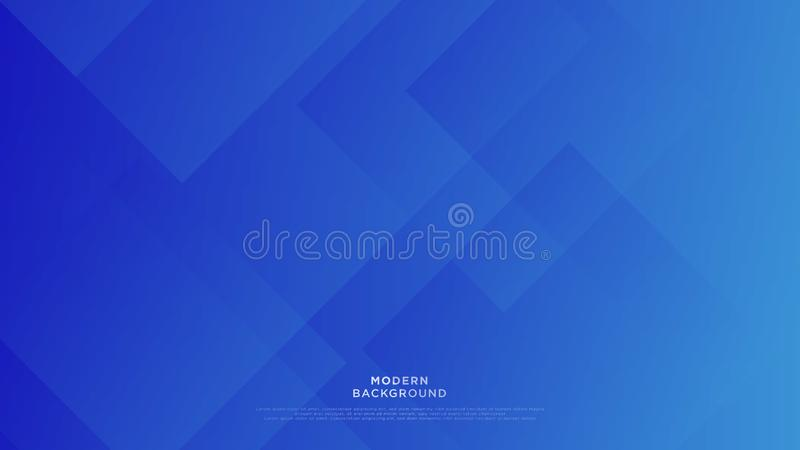 Simple blue background overlapping layer background with space for text design royalty free illustration
