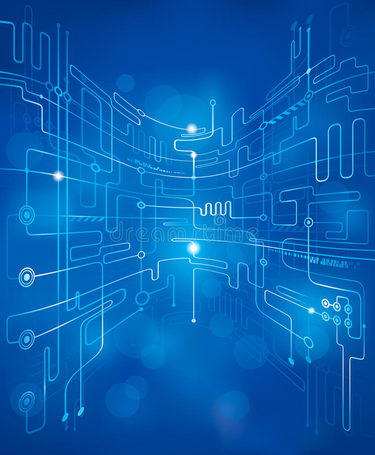 Computer Artwork Of Circuit Board And Information Stock Image T356