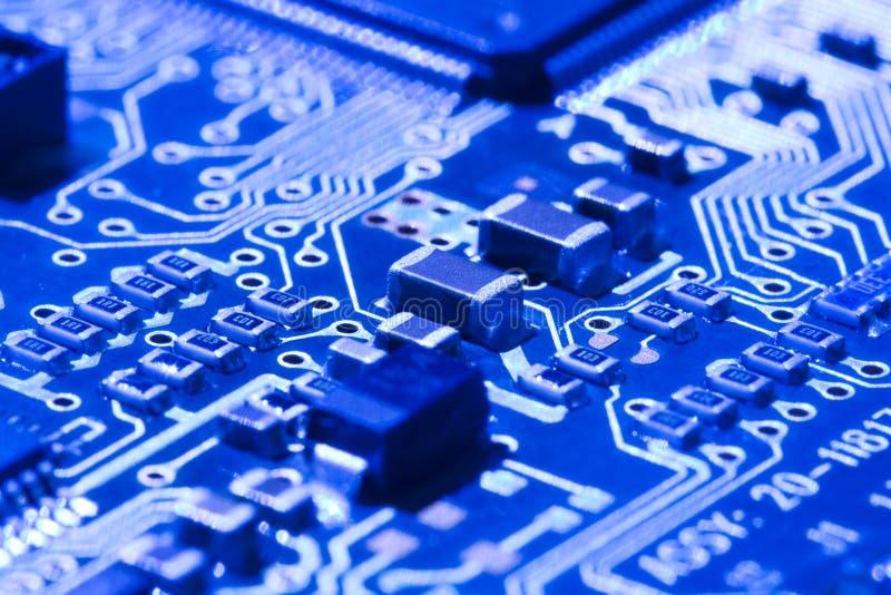 Technology background. Close-up. Electronics component stock photo