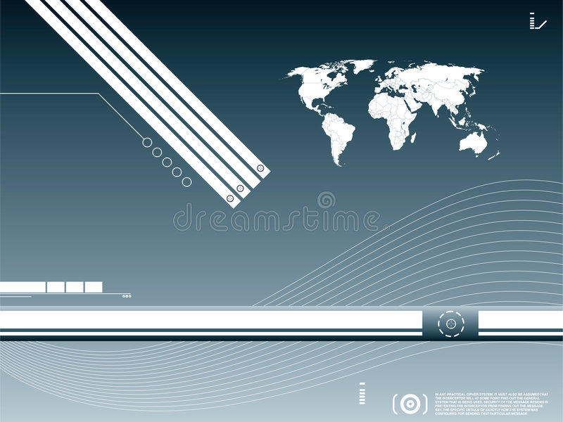 Technology background. Tecknology background blue and curves royalty free illustration
