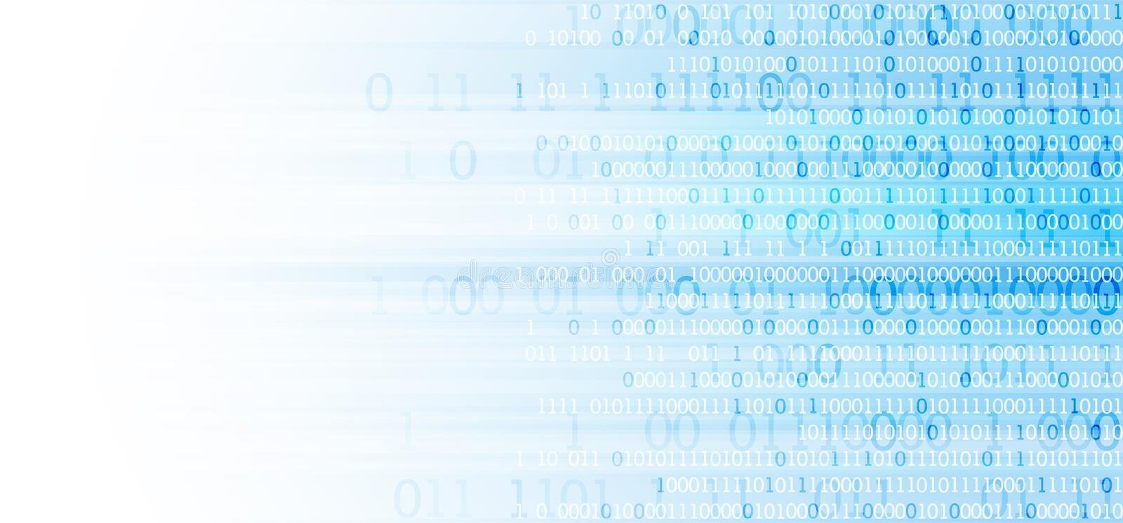 Technology background. Binary computer code. Vector illustratio. Technology themed blue background. Binary computer code. Creative vector illustration royalty free illustration