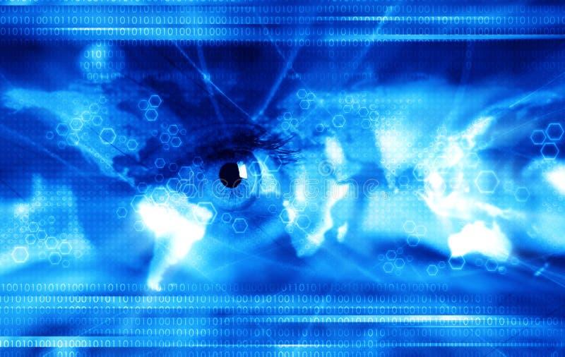 Technology background - blue royalty free stock photo